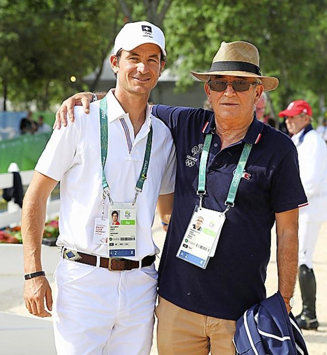 Phillippe Guerdat em registro ao lado do filho na Rio 2016 (arquivo)