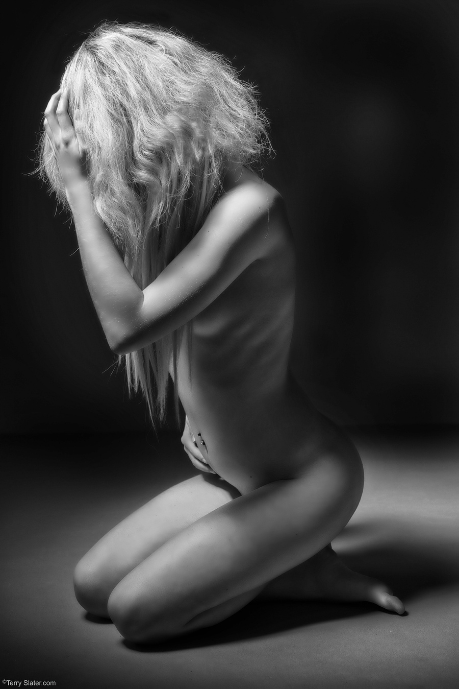 Artistic concealed nude