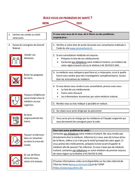 covid 19 procedure a suivre patients