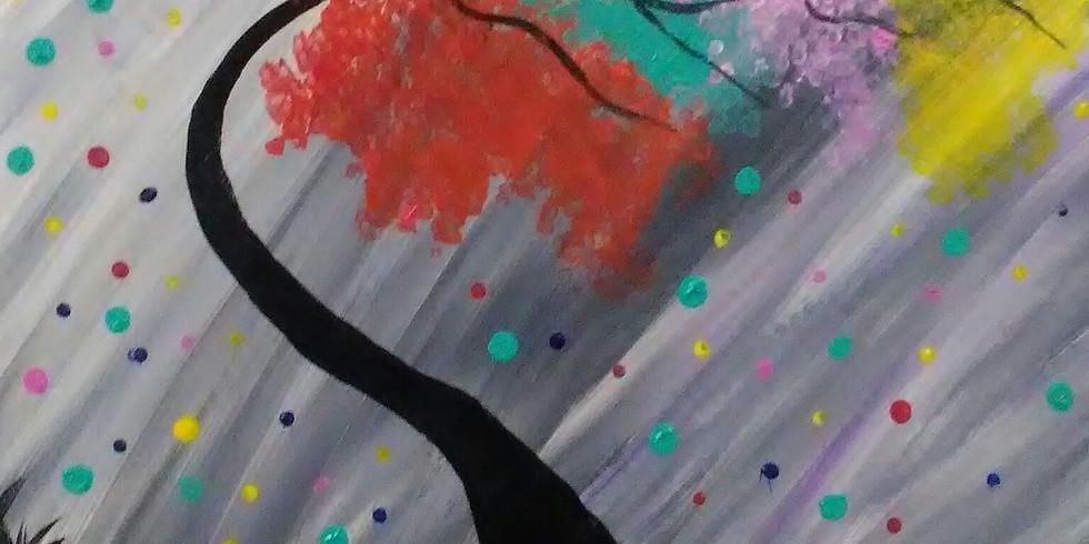 Leaning Rainbow Tree!