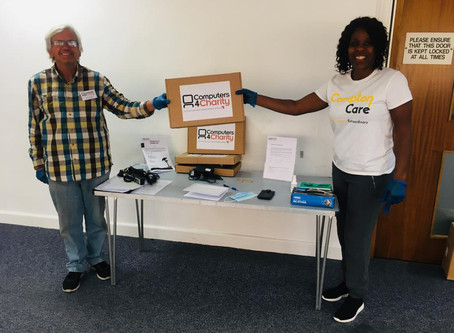 3 Laptops Donated to Compton Care