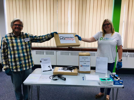 2 Laptops Donated to the Haven Refuge, Wolverhampton