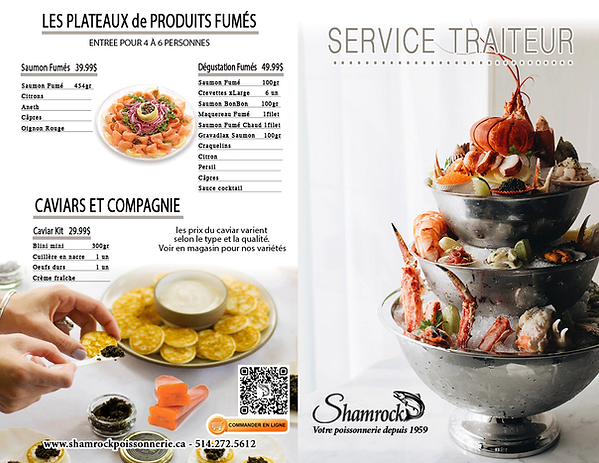 Catering seafood montreal