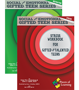 Stress Workbook and Motivation Workbook for Gifted and Talented Teens SET OF TWO