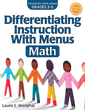 Differentiating Instruction With Menus Math 3-5