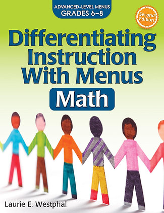 Differentiating Instruction With Menus Math 6-8