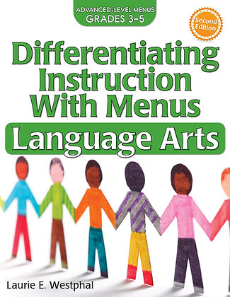 Differentiating Instruction with Menus Language Arts 3-5