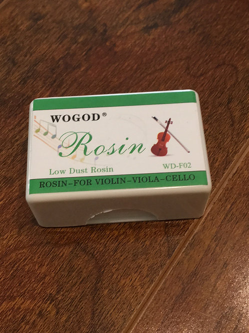 Rosin - light, low dust for violin, viola, and cello