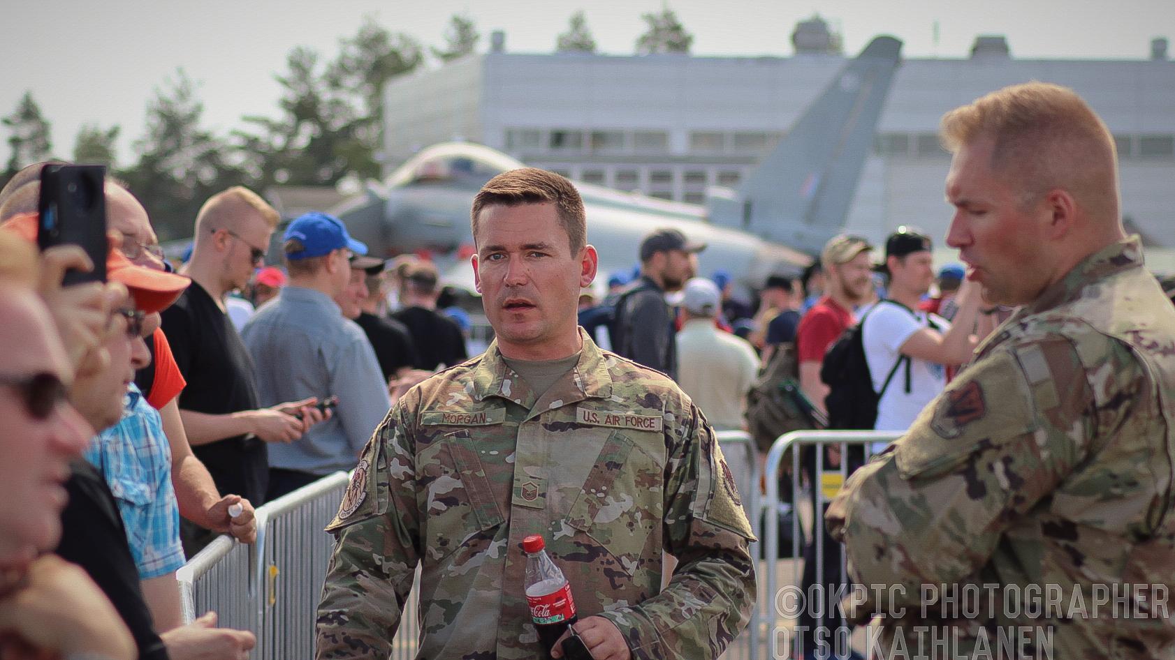 Yhdysvaltain ilmavoimien sotilaita (Turku Airshow 2019)