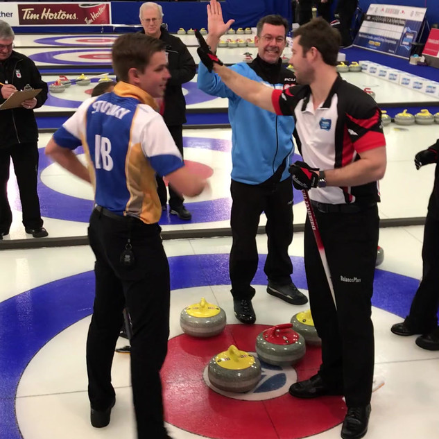 Pearl Gillis's winning shot. Pearl would go on to win the 2018 Junior Mixed Doubles Canadian Championships