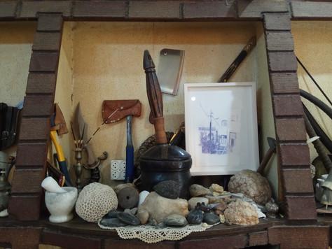 """Display view in """"Hunac Hon"""" exhibition, Um El Fahem"""