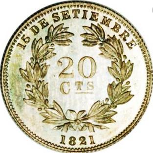 Moneda de 20 centavos: Conmemorativa 15 septiembre de 1821