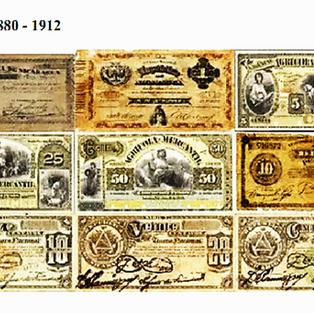Billetes del período 1880 a 1912