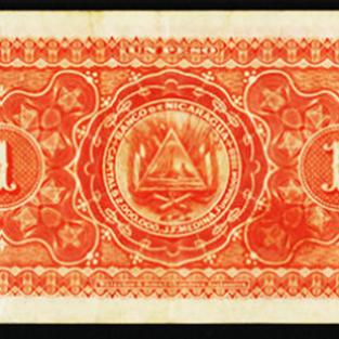 Billete de 1 peso 1889 a 1893 reverso