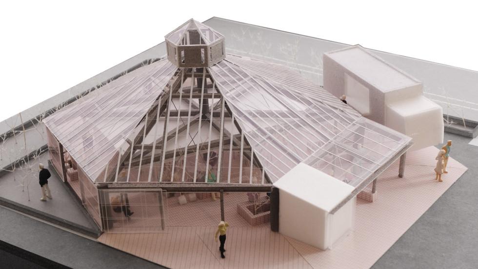 広場の温室