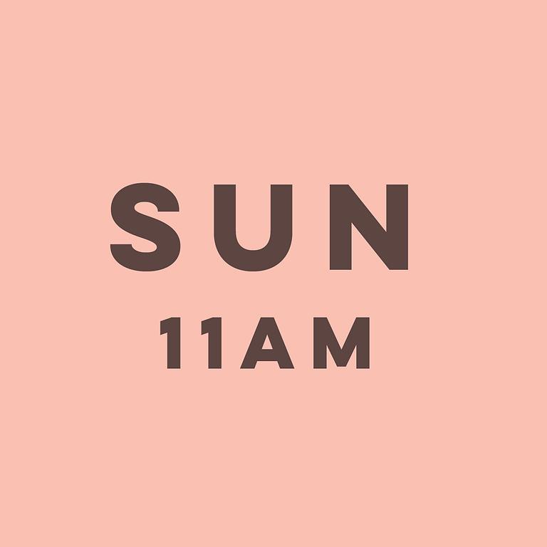 11am Sunday 1st August