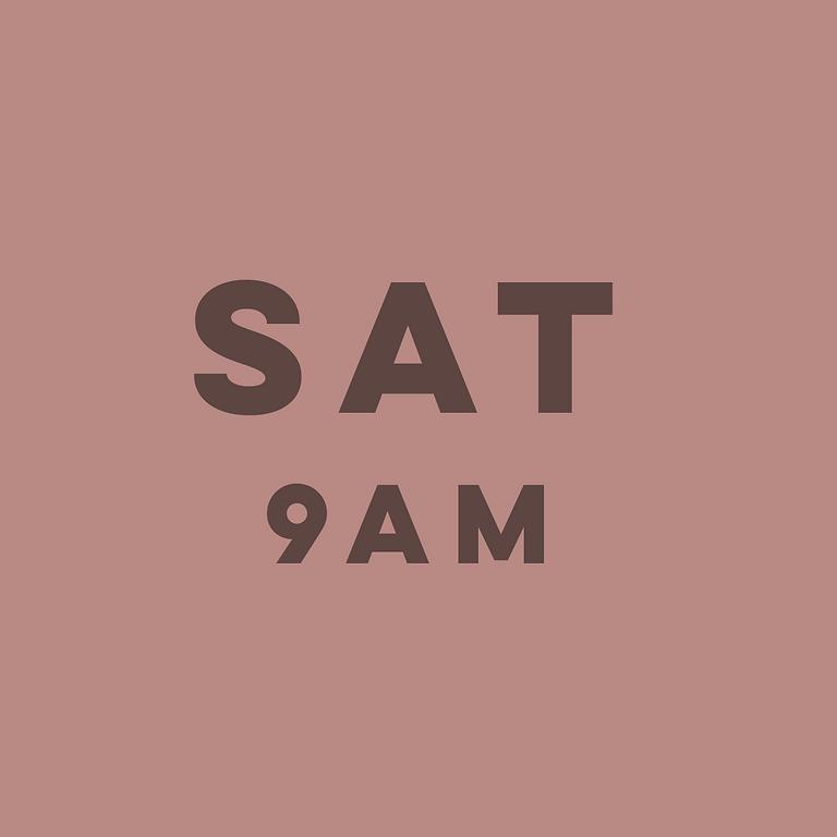 9am Saturday 31st July
