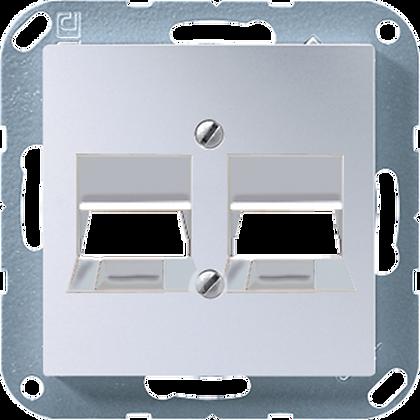 Крышка для 2 модульных гнёзд AMP/KAT5 (алюминий)
