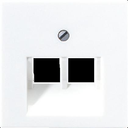 Крышка для сдвоенной телефонной или компьютерной розетки (белый)»