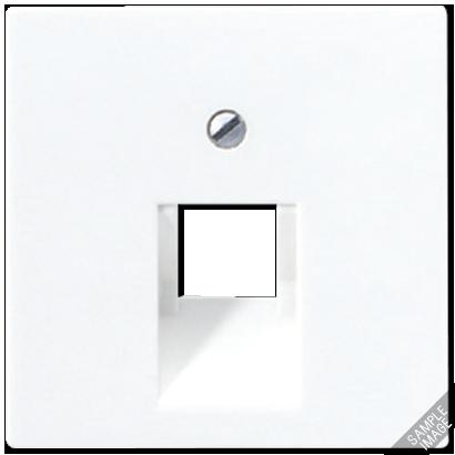 Крышка для одинарной телефонной или компьютерной розетки (слоновая кость)