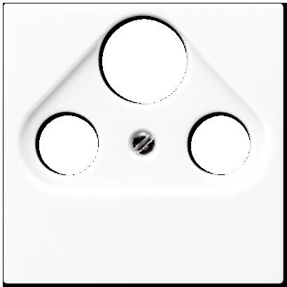 Крышка для розетки TV-SAT-FM (белый)