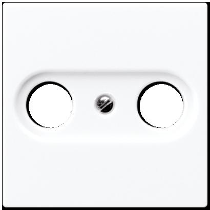 Крышка для розетки TV/FM (белый)