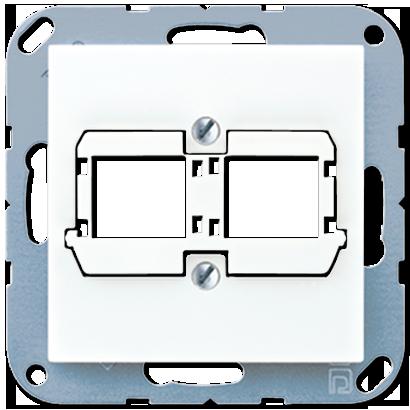 Крышка для 2 модульных гнёзд Reichle DeMassari (белый)