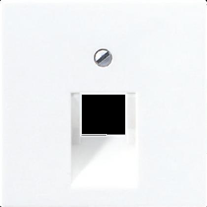 Крышка для одинарной телефонной или компьютерной розетки (белый)