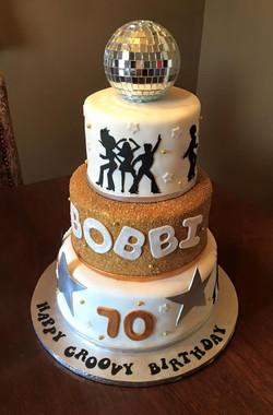 70's disco birthday cake 2016