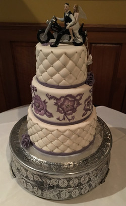 2016 purple brush embroidery wedding
