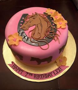 PINK HORSE SHOE BIRTHDAY