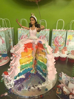 2018-06 RAINBOW INSIDE BARBIE CAKE