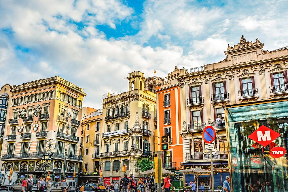 Barcelona Street full of colour