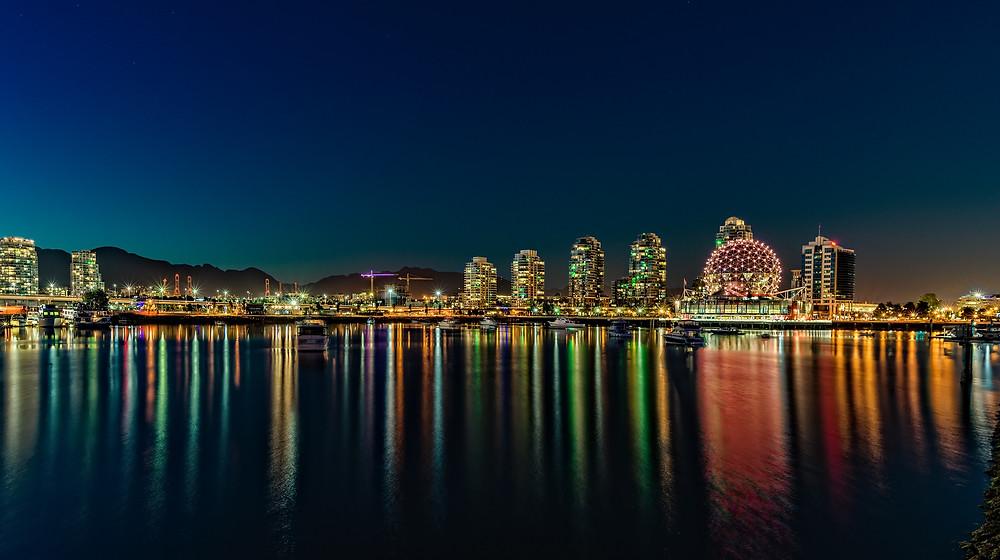 Vancouver City Skyline at night