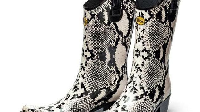 Bandy Snake snakeskin cowboy boot wellies