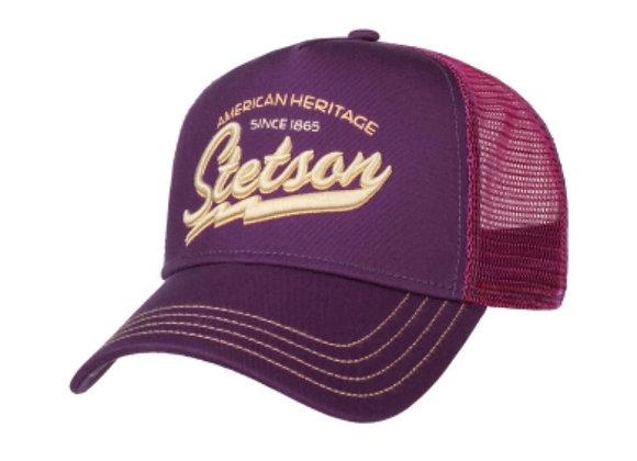 Since 1865 Stetson Trucker Cap Purple