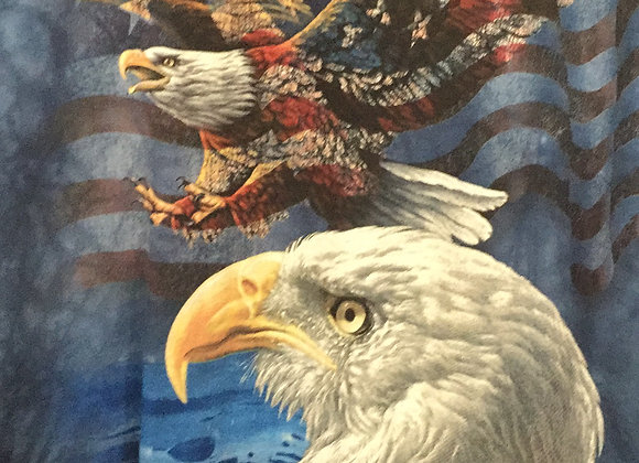 The Mountain Eagles and flag