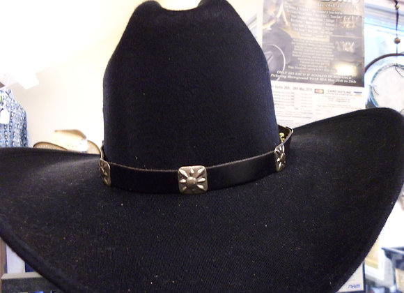 Leather concho hat band   Ssq01