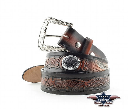 Leather Eagle belt with Conches (BE016)