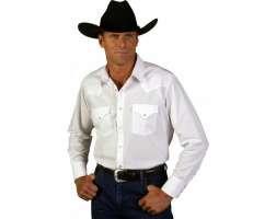 Ely White Western L/S Shirt   E19