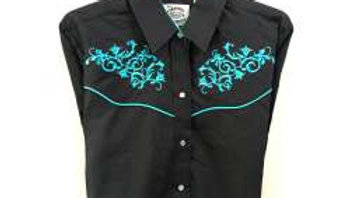 Ladies Western Embroidered Shirt by Ely