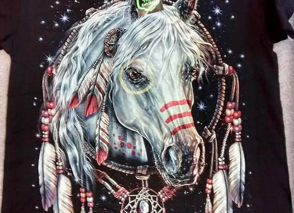 Painted Horse Glow in the Dark T Shirt  gd003