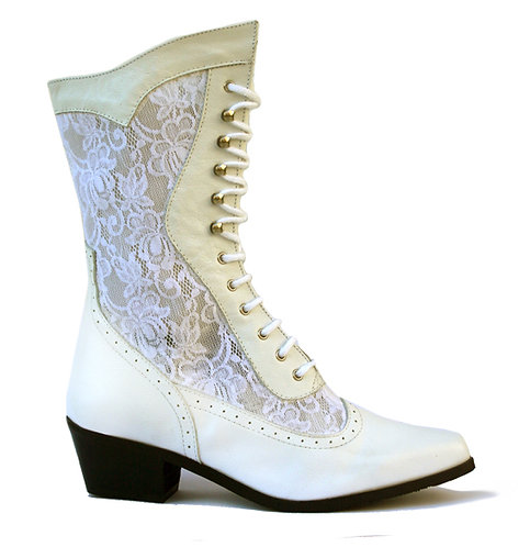 Oaktree Western Cathedral White Cowboy Boot