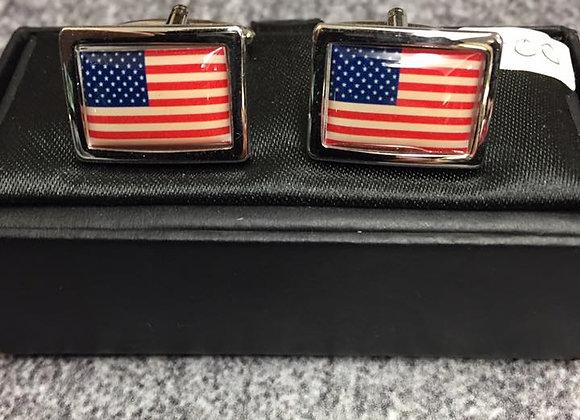 Cuff links, USA flag
