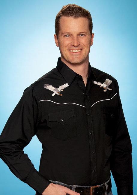 Ely Western Shirt & Eagles    E16