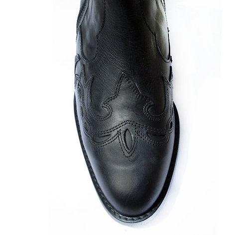 Santa Fe Double Zip Leather Ankle Cowboy Boots