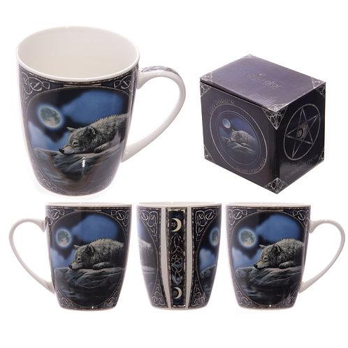 Bone China Wolf Mug