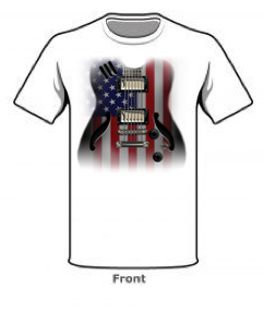 Flag Guitar White       USA01