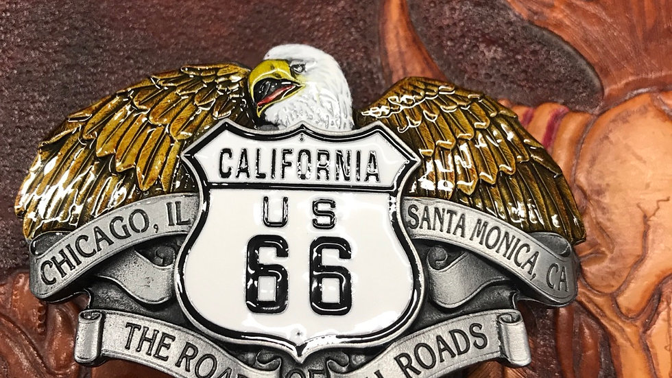US 66 California Belt Buckle    (BU19)