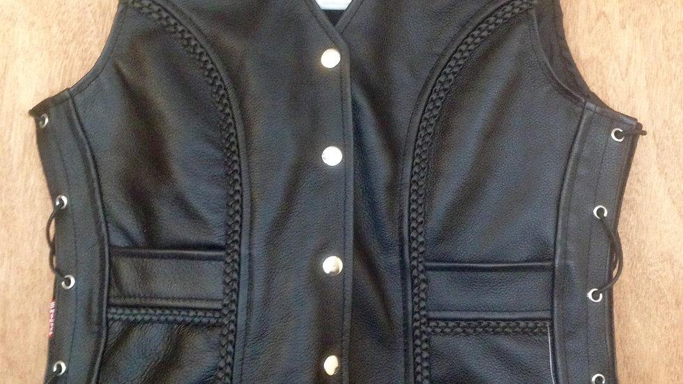 Ladies Leather Waistcoat  STL01